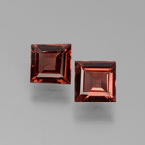 thumb image of 1.2ct Square Facet Pinkish Rose Rhodolite Garnet (ID: 431048)