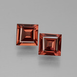 thumb image of 1.2ct Square Facet Pinkish Rose Rhodolite Garnet (ID: 431052)