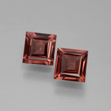 thumb image of 1.2ct Square Facet Pinkish Rose Rhodolite Garnet (ID: 431054)