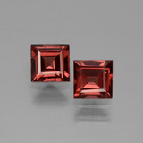 thumb image of 1.5ct Square Facet Pinkish Rose Rhodolite Garnet (ID: 431056)