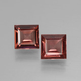 thumb image of 1.3ct Square Facet Pinkish Rose Rhodolite Garnet (ID: 431061)