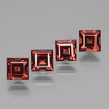 thumb image of 3.4ct Square Facet Pinkish Rose Rhodolite Garnet (ID: 431098)