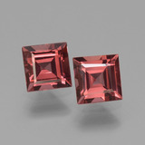 thumb image of 1.6ct Square Facet Pinkish Rose Rhodolite Garnet (ID: 431111)