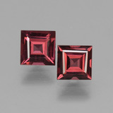 thumb image of 1.5ct Square Facet Pinkish Rose Rhodolite Garnet (ID: 431114)