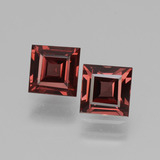 thumb image of 1.5ct Square Facet Pinkish Rose Rhodolite Garnet (ID: 431165)