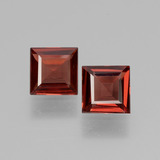 thumb image of 1.2ct Square Facet Pinkish Rose Rhodolite Garnet (ID: 431167)