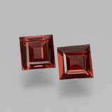 thumb image of 1.2ct Square Facet Pinkish Rose Rhodolite Garnet (ID: 431168)