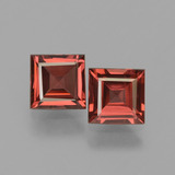 thumb image of 1.5ct Square Facet Pinkish Rose Rhodolite Garnet (ID: 431188)