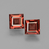 thumb image of 1.2ct Square Facet Pinkish Rose Rhodolite Garnet (ID: 431189)