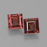 thumb image of 1.4ct Square Facet Pinkish Rose Rhodolite Garnet (ID: 431191)