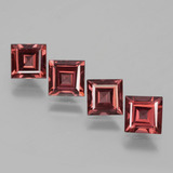 thumb image of 3.1ct Square Facet Pinkish Rose Rhodolite Garnet (ID: 431212)