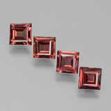 thumb image of 2.4ct Square Facet Pinkish Rose Rhodolite Garnet (ID: 431216)