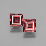 thumb image of 1.5ct Square Facet Pinkish Rose Rhodolite Garnet (ID: 431290)