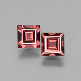 thumb image of 1.5ct Square Facet Pinkish Rose Rhodolite Garnet (ID: 431291)