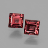 thumb image of 1.5ct Square Facet Pinkish Rose Rhodolite Garnet (ID: 431297)