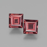 thumb image of 1.3ct Square Facet Pinkish Rose Rhodolite Garnet (ID: 431320)