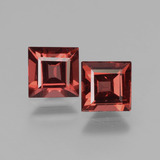 thumb image of 1.6ct Square Facet Pinkish Rose Rhodolite Garnet (ID: 431326)