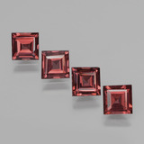 thumb image of 2.8ct Square Facet Pinkish Rose Rhodolite Garnet (ID: 431361)