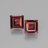 thumb image of 1.3ct Square Facet Pinkish Rose Rhodolite Garnet (ID: 431395)