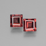 thumb image of 0.7ct Square Facet Pinkish Rose Rhodolite Garnet (ID: 431398)