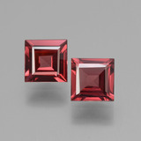 thumb image of 1.3ct Square Facet Pinkish Rose Rhodolite Garnet (ID: 431428)