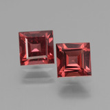 thumb image of 1.5ct Square Facet Pinkish Rose Rhodolite Garnet (ID: 431429)