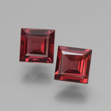 thumb image of 1.6ct Square Facet Pinkish Rose Rhodolite Garnet (ID: 431434)