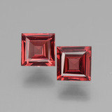 thumb image of 1.4ct Square Facet Pinkish Rose Rhodolite Garnet (ID: 431435)