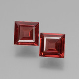 thumb image of 1.2ct Square Facet Pinkish Rose Rhodolite Garnet (ID: 431436)