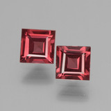 thumb image of 1.5ct Square Facet Pinkish Rose Rhodolite Garnet (ID: 431453)
