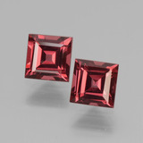 thumb image of 1.7ct Square Facet Pinkish Rose Rhodolite Garnet (ID: 431457)