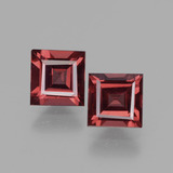 thumb image of 1.5ct Square Facet Pinkish Rose Rhodolite Garnet (ID: 431477)