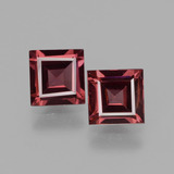 thumb image of 1.4ct Square Facet Pinkish Rose Rhodolite Garnet (ID: 431479)