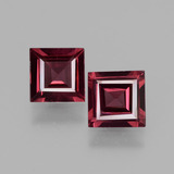 thumb image of 1.3ct Square Facet Pinkish Rose Rhodolite Garnet (ID: 431480)