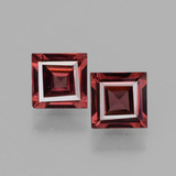 thumb image of 1.3ct Square Facet Pinkish Rose Rhodolite Garnet (ID: 431482)
