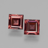 thumb image of 1.4ct Square Facet Pinkish Rose Rhodolite Garnet (ID: 431485)