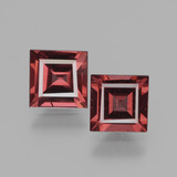 thumb image of 1.5ct Square Facet Pinkish Rose Rhodolite Garnet (ID: 431486)