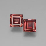 thumb image of 1.2ct Square Facet Pinkish Rose Rhodolite Garnet (ID: 431515)