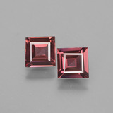 thumb image of 1.2ct Square Facet Pinkish Rose Rhodolite Garnet (ID: 431518)