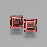 thumb image of 1.4ct Square Facet Pinkish Rose Rhodolite Garnet (ID: 431521)