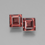 thumb image of 0.8ct Square Facet Light Red Rhodolite Garnet (ID: 431522)