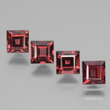 thumb image of 3ct Square Facet Pinkish Rose Rhodolite Garnet (ID: 431551)