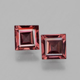thumb image of 1.4ct Square Facet Pinkish Rose Rhodolite Garnet (ID: 431574)