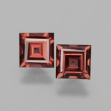 thumb image of 1.5ct Square Facet Pinkish Rose Rhodolite Garnet (ID: 431576)