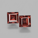 thumb image of 1.5ct Square Facet Pinkish Rose Rhodolite Garnet (ID: 431578)