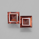 thumb image of 1.2ct Square Facet Pinkish Rose Rhodolite Garnet (ID: 431579)