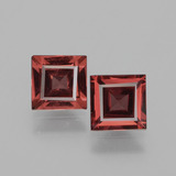thumb image of 1.5ct Square Facet Pinkish Rose Rhodolite Garnet (ID: 431580)
