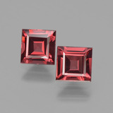 thumb image of 1.5ct Square Facet Pinkish Rose Rhodolite Garnet (ID: 431584)