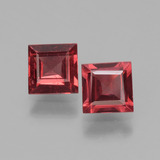 thumb image of 1.5ct Square Facet Pinkish Rose Rhodolite Garnet (ID: 431589)