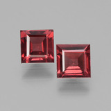 thumb image of 1.4ct Square Facet Pinkish Rose Rhodolite Garnet (ID: 431590)